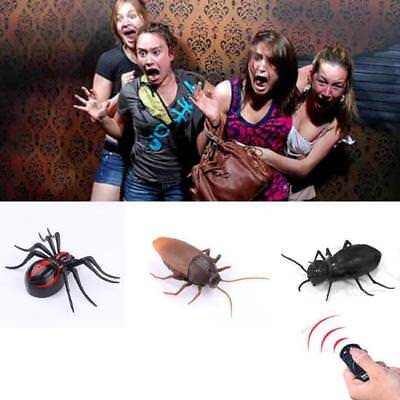 Fake Prank Toys Party Trick Look Real Snake Cockroach Knives Gag Hand Spider Web