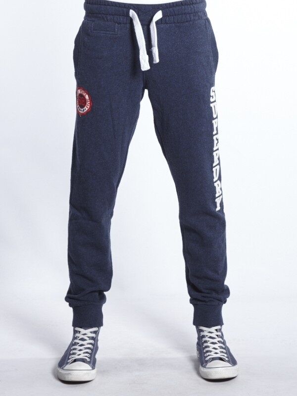 SUPERDRY Men's SD-Broome Jogger Sweat Pants Jogging Casual Trousers bluee Grey