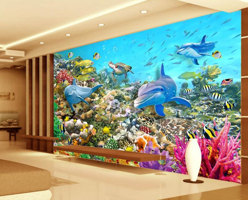 3D Farbe Korallen Delphin 965 Tapete Wandgemälde Tapete Tapeten Tapeten Tapeten Bild Familie DE   Neuer Eintrag    Ästhetisches Aussehen    Spielen Sie das Beste  58b309