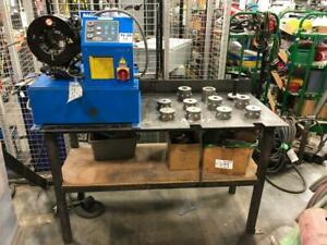 YUNG LUNG Hydraulic Hose Crimper w/ Table & Dies Canada Preview