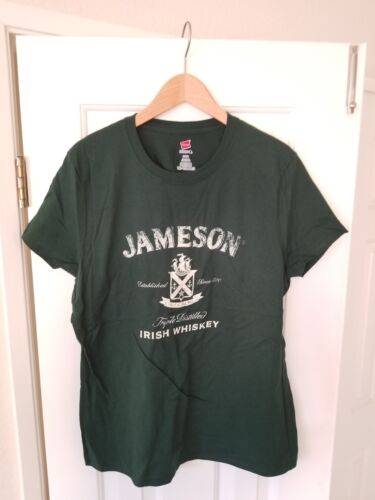 HANES JAMESON TRIPLE DISTILLED IRISH WHISKEY WOMEN/'S LARGE SHORT SLEEVE TSHIRT