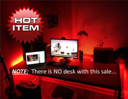 Home LIght Gaming Computer Desk LED Lights - Overnight Shipping H Office