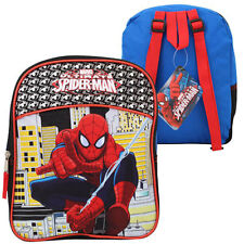 "Marvel Spider-Man Half Moon Kids Boys Mini 12"" Backpack Bag Blue NEW"