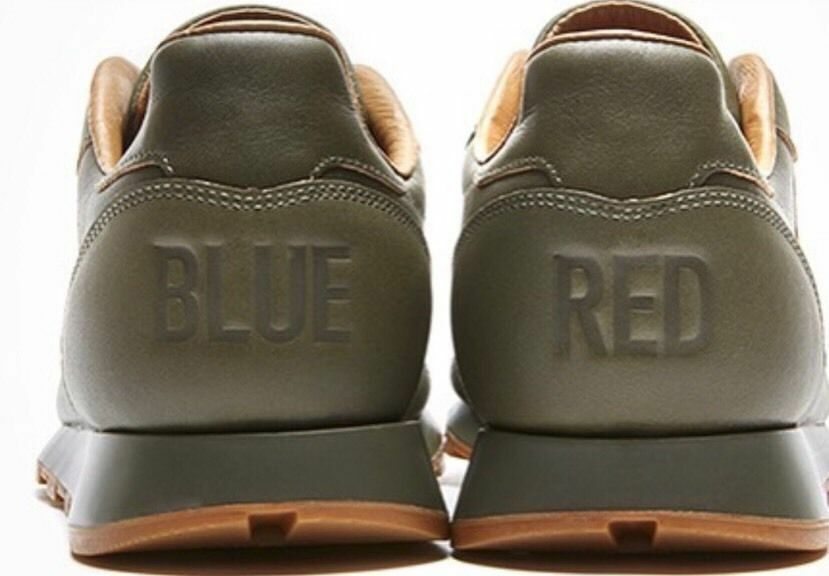 """Kendrick Lamar Reebok Classic Leather Lux Sneakers """"Red and Blue"""