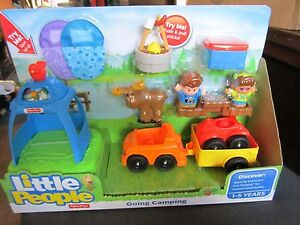 Fisher Price Little People Going Camping Atv 4 Wheeler Tent Moose