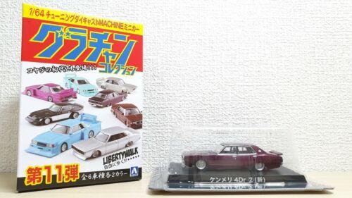 1//64 Aoshima Grachan NISSAN SKYLINE 2000GT KENMERI 4 DOOR PURPLE new ver diecast