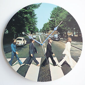 Abbey-Road-Album-Art-The-Beatles-12-034-LP-Vinyl-Record-Wall-Clock-canvas