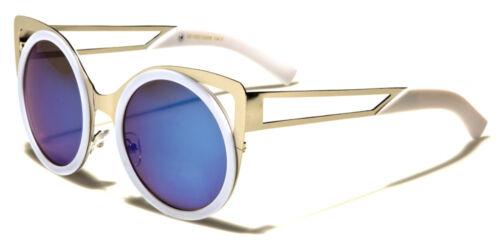 LENTE FLAT round Cat Eye Design Lente A Specchio Da Donna Occhiali da sole da uomo 100/% UV400 1308