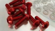 Ducati 1098 848 1198 VITI CARENE ergal ROSSO x8 + Elementi Fissaggio + Rondelle
