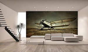 Details About Old Military Plane Wall Mural Photo Wallpaper Giant Decor Paper Poster