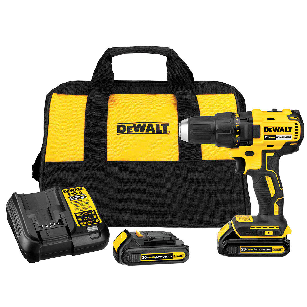 DeWALT DCD777CR 20-Volt 1/2-Inch Lithium-Ion Brushless Compact Drill Driver
