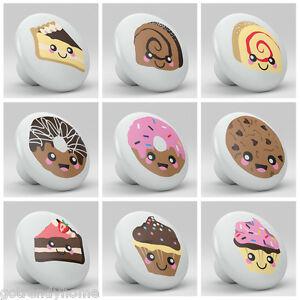 Set Of 9 Cute Cakes Cookies Dessert Ceramic Knobs Pulls