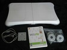 Nintendo Wii Fit game + Balance Board + rechargeable battery pack + extra feet