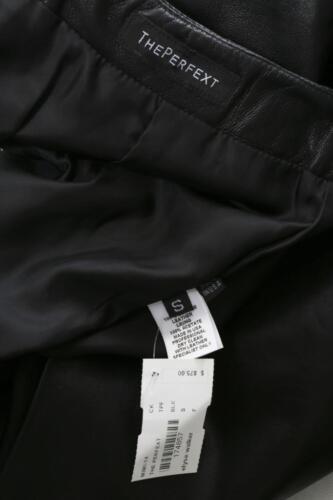 Womens Fringe lunghezza S Nuovo Theperfext al Mini ginocchio Black Leather Knee PtayHqydOw