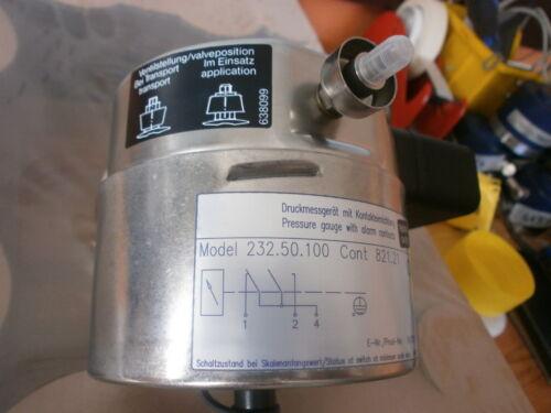 Cont 821.21 Manómetro Medidor de presión con conexión de alarma Wika 232.50.100