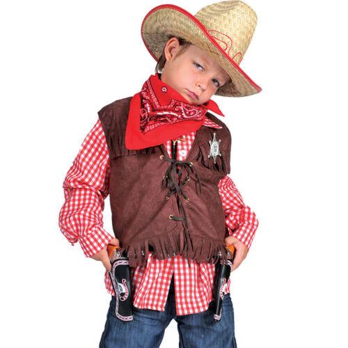 Gilet COW BOY o FAR WEST sceriffo con stella Tg 3//5-5//7-7//9-9//12-12//14 anni