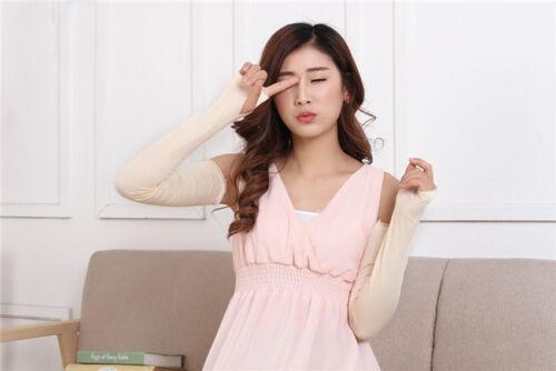 Women Girl/'s Warm Arm Warmer Cotton UV Protection Long Fingerless Gloves Gift