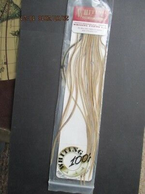 Whitings 100s golden badger size 10 saddle feathers flytying materials