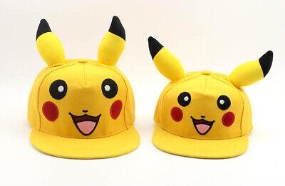 Kids Boys Girls Pokemon Pikachu Baseball Cap Snapback Adjustable Casual Flat Hat