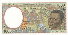 Central African St. / Gabon - 1000 Francs 2000 UNC - Pick 402Lg