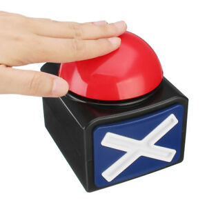 NEW-Buzzer-Alarm-Push-Button-Lottery-Trivia-Quiz-Game-Red-Light-With-Sound-And