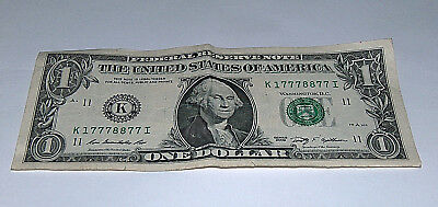Apprehensive 2009 Dollar Bill Us Bank Note Pair 8 3-7 High #'s 17778877 Fancy Money Serial Coins & Paper Money