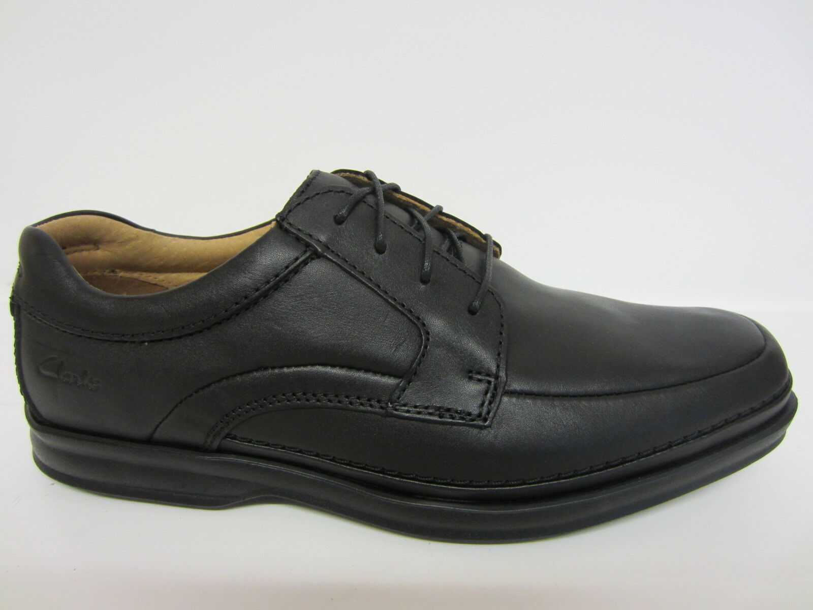 Clarks Mens Black Leather Active Air Lace-up Shoe Scopic Way H Fitt   (R21B)