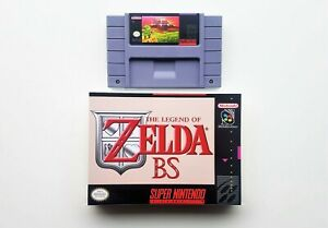 BS-Legend-of-Zelda-Maps-1-amp-2-Custom-Case-Super-Nintendo-SNES-USA-Seller