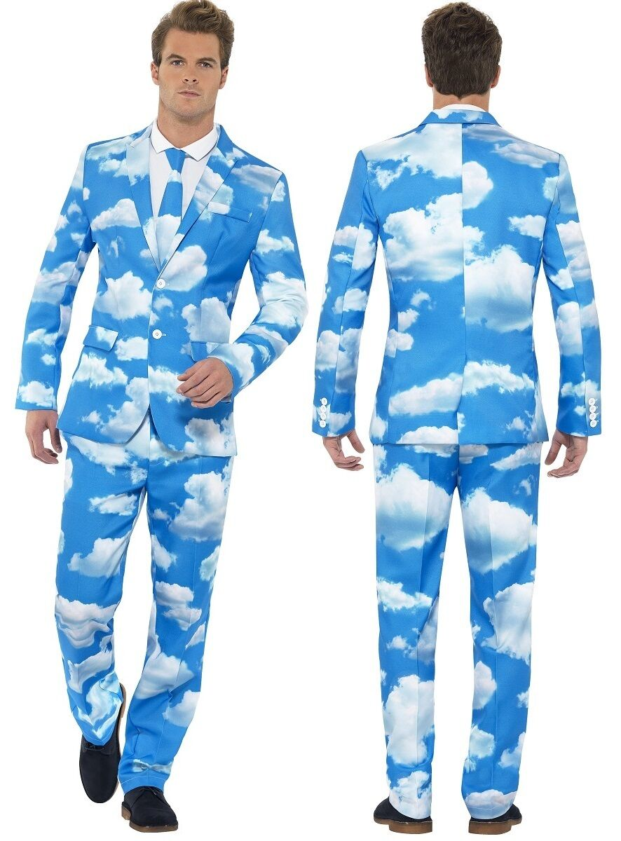 Homme cloudy sky ressortir costume Bleu Bleu Bleu  stag do fancy dress costume outfit m-xl f4dac4