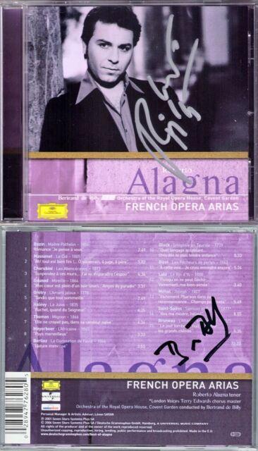 Roberto ALAGNA, Bertrand De BILLY Signed FRENCH OPERA ARIAS Bizet Cherubini Lalo