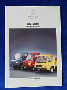 Mercedes-Transporter-Pritschenwagen-amp-Kipper-MJ-1994-Prospekt-Brochure-12-1993