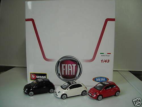 LOTTO 24 FIAT NUOVA 500 SCALA  1 43 ASSORTITE BBURAGO ITALY '00  il y a plus de marques de produits de haute qualité