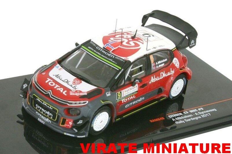 CITROEN C3 WRC RALLYE SARDAIGNE 2017 ANDREAS MIKKELSEN IXO RAM 640 1 43