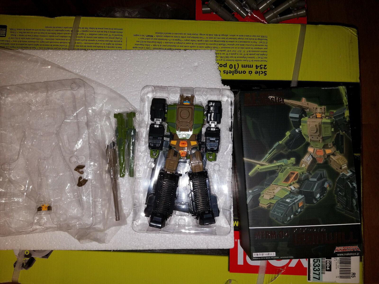 Transformers Maketoys MTRM-04 IRONWILL Masterpiece MP G1 Headmaster Hardhead +MO