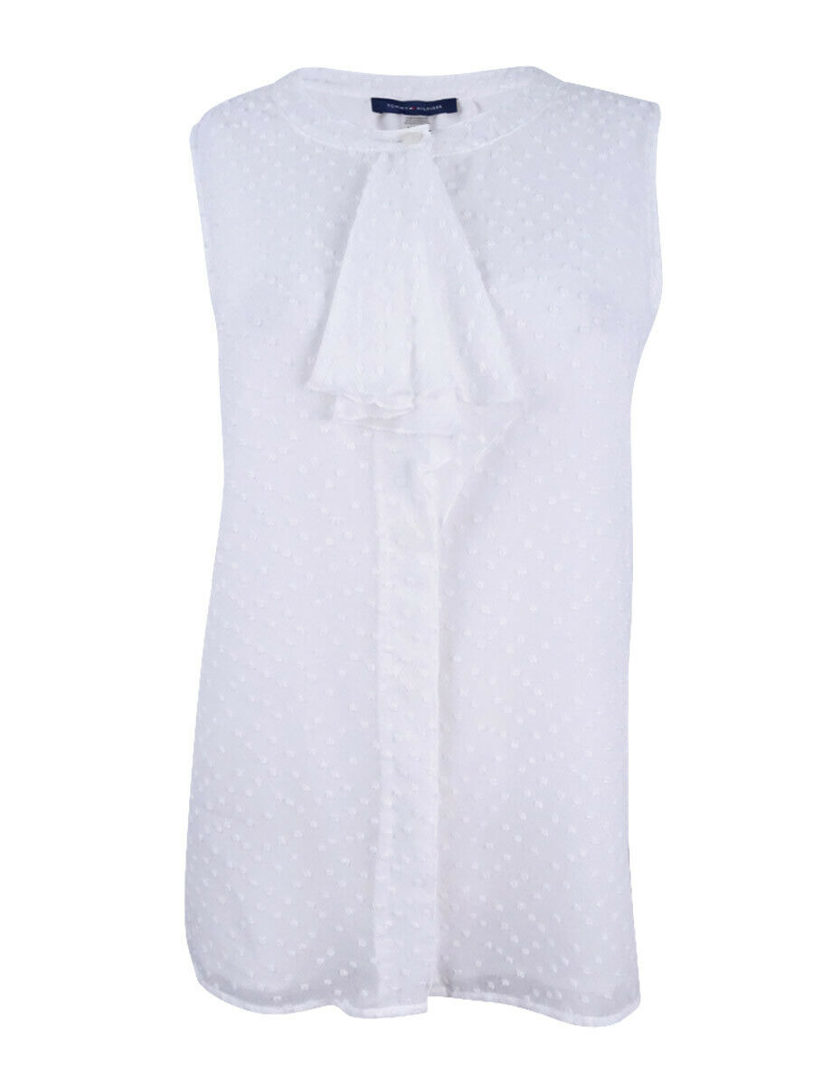 Tommy Hilfiger Tjw Bow Detail Dobby Blouse Blusa para Mujer