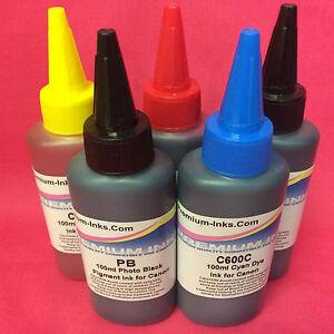 Image Is Loading 5x Pigment Dye Bulk Ink Bottle For Refill