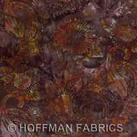Hoffman Bali Hand Paints K2553 180 Walnut Cornucopia Bty Cotton Fabric Craft Supplies