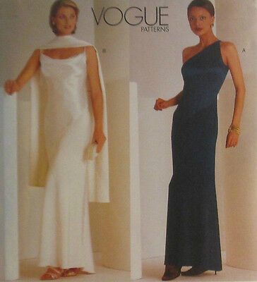 1997 New Tom /& Linda Platt Gown Scarf Pattern Choice 6-16 Vogue 2042 OOP