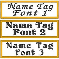 Custom Embroidered 3 1/2 X 1 Name Tag Patch Motorcycle Biker 001