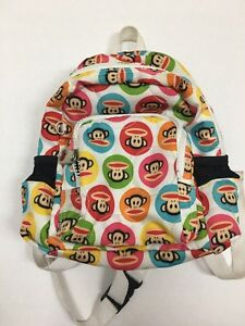 Kids-Youth-Paul-Frank-Multi-Colors-Monkey-Face-Backpack