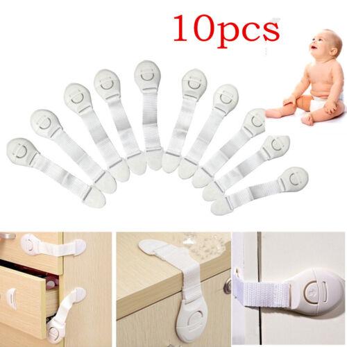 10pcs enfant décoration Serrure multi fonction Adhésif Sécurité loquets verrous pour réfrigérateur