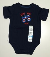 """Jumping Beans Boy's """"YAY! YAY! USA! Monster Truck Bodysuit - Size 6 Months -NEW"""