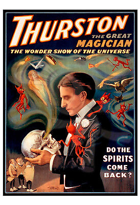 Magic Poster Howard Thurston-Thurston the great magician-Do spirits come back?