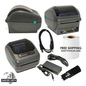 Details about Zebra GK420d GK42-202510-000 Printer, Power Adapter, USB, &  Power Cable