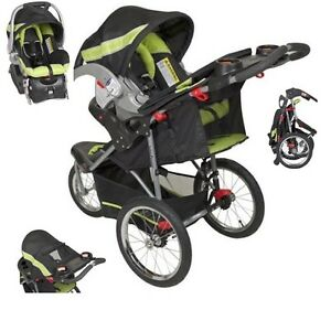 Details About Green Jogging Stroller Car Seat Combo Baby Trend Run Travel Carriage Black Walk