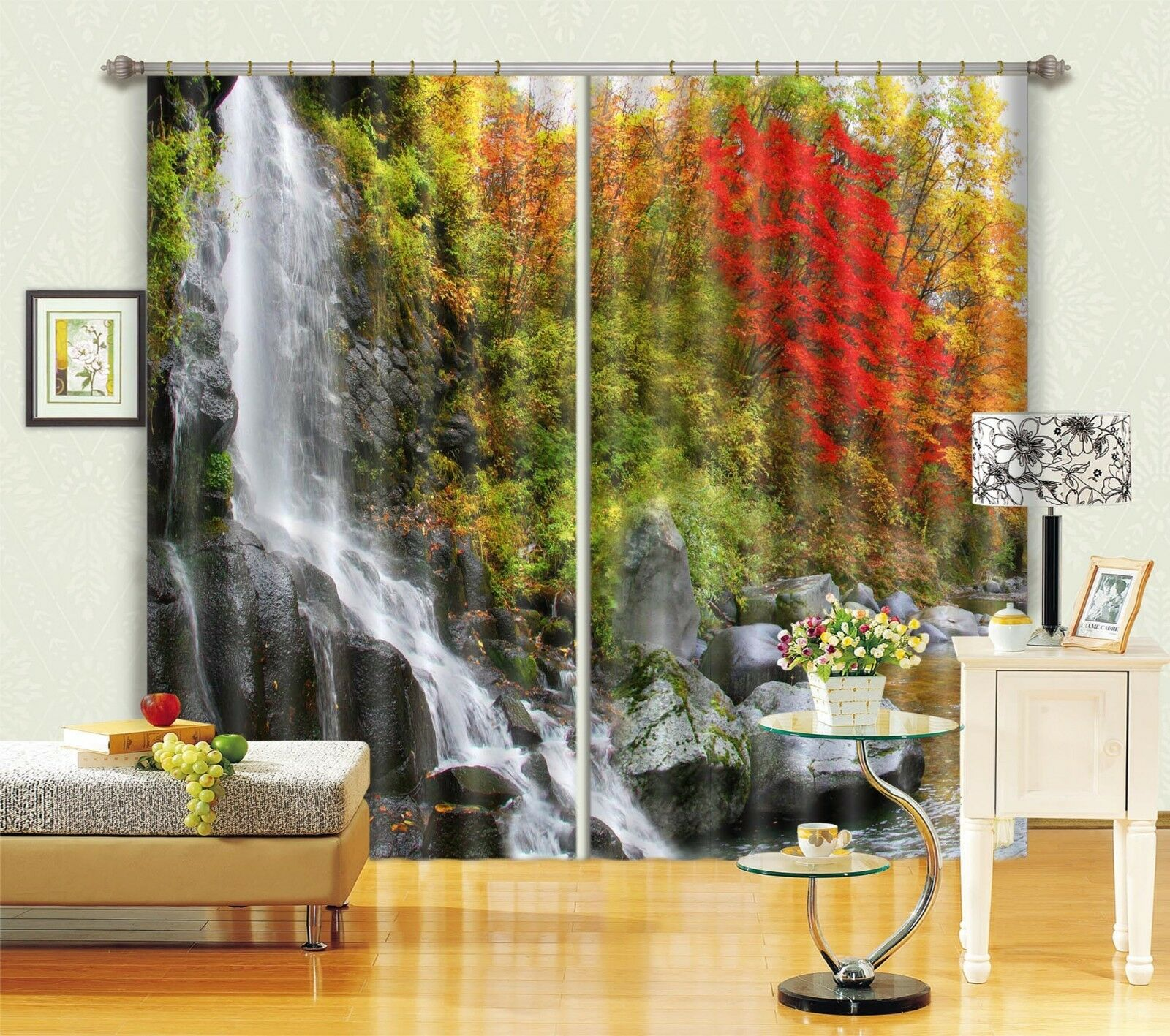 Corriente de 3D 715 Cortinas de impresión de cortina de foto Blockout Tela Cortinas Ventana CA
