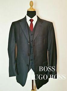 Hugo-Boss-Anzugjacke-amp-Weste-in-Anthrazit-42-52-Da-Vinci-Lucca-Zweiteiliger