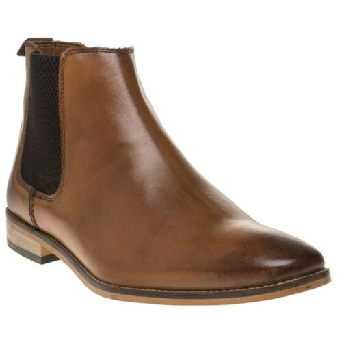 New Bottes Pull ouvertes Elasticated Base Mens Chelsea tannées On London cuir en TCqaSxFTwr