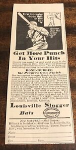 EARLY-1900-s-ROGERS-HONSBY-ST-LOUIS-LOUISVILLE-SLUGGER-BASEBALL-BAT-AD