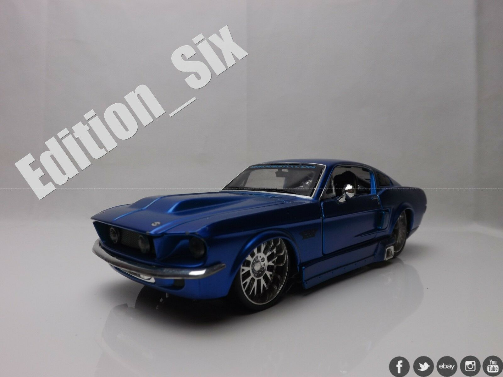 Maisto 1 24 1967 1967 1967 Ford Mustang GT bluee HotRod American Muscle sports car cbfc0c